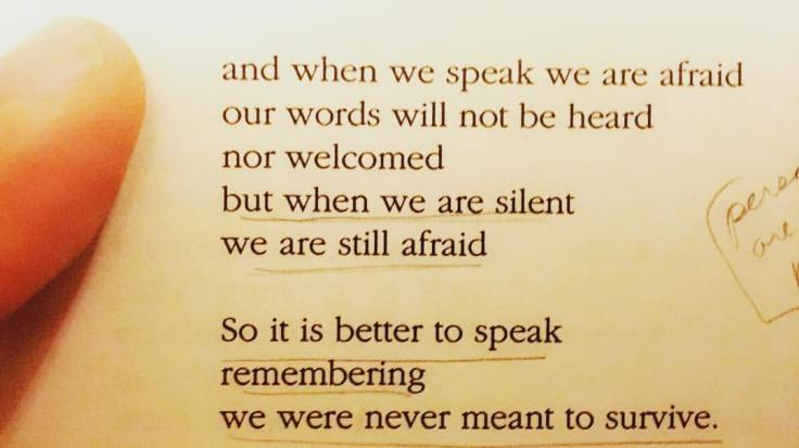 when we speak